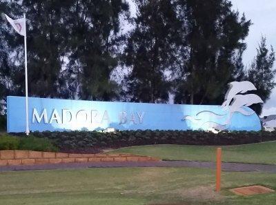 Mandora Bay customized metal sign