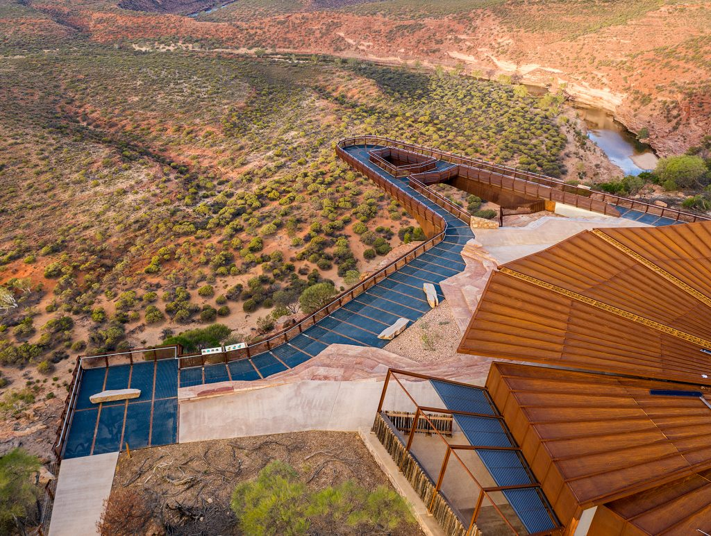 View from above the Kalbarri Skywalk