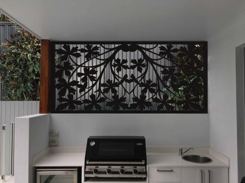 Customized floral metal art